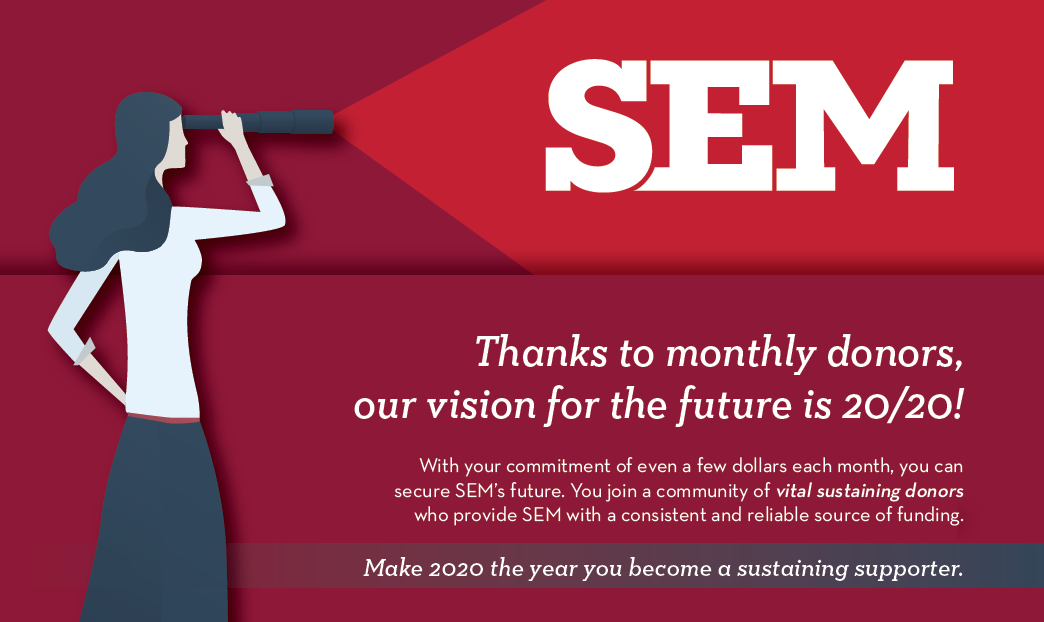 Thanks to monthly donors, our vision for the future is 20/20